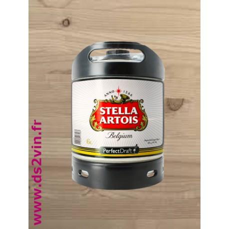 Fut de bière blonde Stella Artois 6L
