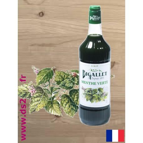 Sirop de Menthe Verte - Bigallet - 1 litre