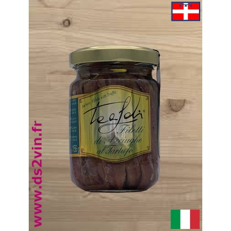 Filets d'anchois à la truffe - Tealdi - 156g