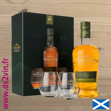 Whisky Coffret Tomatin 12 ans - 70cl 43°
