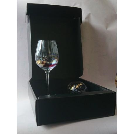 Coffret 2 Verres Milano + 1 bouteille effet Simili Cuir