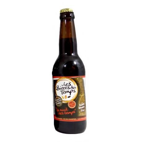 Bière Brune Artisanale Bio   La nuit des temps   Les Bières Du Temps - 33cl