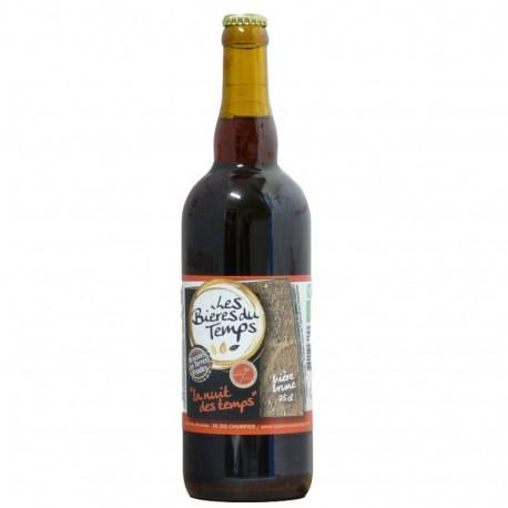Bière Brune Artisanale Bio   La nuit des temps   Les Bières Du Temps - 75cl
