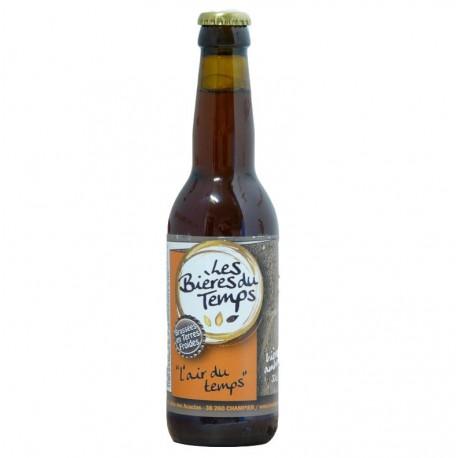 Bière Ambrée Artisanale Bio   L'Air Du Temps   Les Bières Du Temps - 33cl