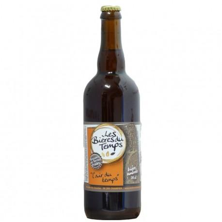 Bière Ambrée Artisanale Bio   L'Air Du Temps   Les Bières Du Temps - 75cl