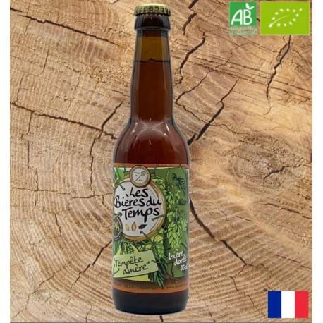 Bière Dorée Artisanale Bio   Tempête Amer   Les Bières Du Temps - 33cl