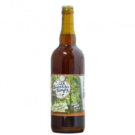 Bière Dorée Artisanale Bio   Tempête Amer   Les Bières Du Temps - 75cl
