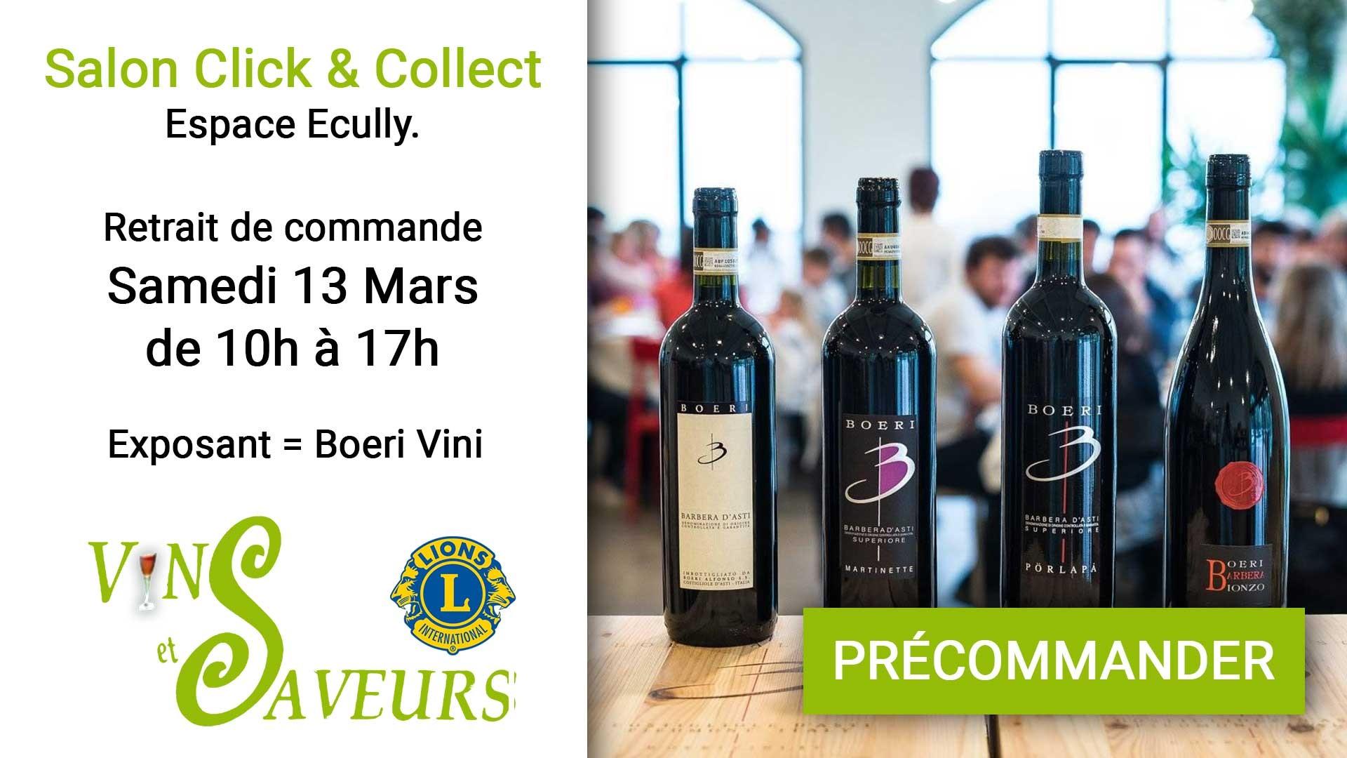 Précommandez votre vin en Click & Collect - Livraison au salon